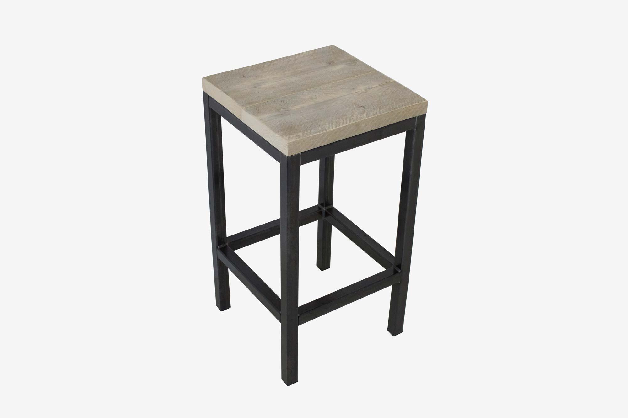 Steigerhouten barkruk fØrn meubelen van steigerhout