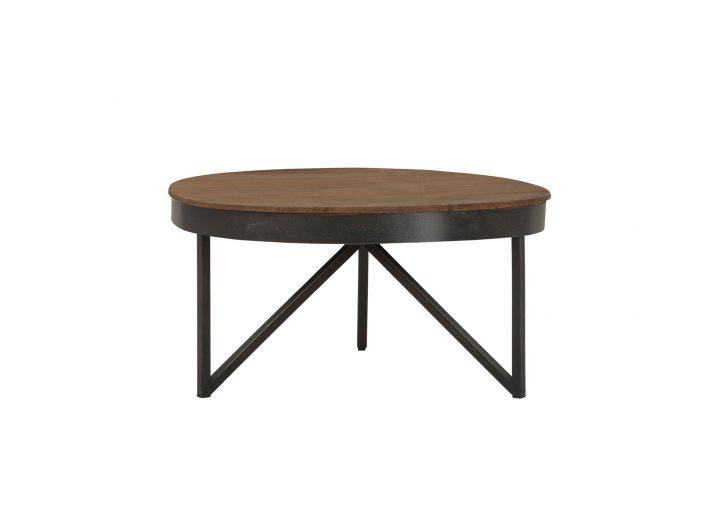 Teak salontafel Fendy Rond Medium Ø70cm