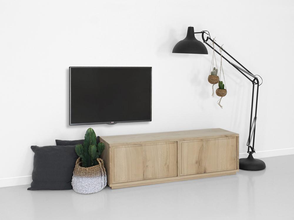 Eikenhout Tv Meubel : Tv meubel norah eikenhout fØrn maatwerk meubelen
