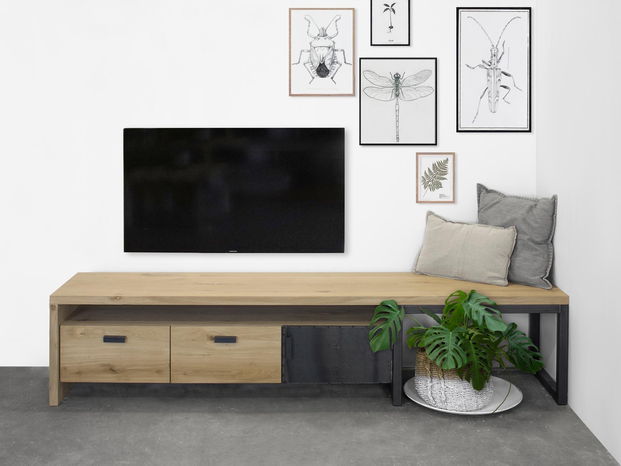 Nieuw TV-Meubel Kaspar eikenhout | FØRN maatwerk meubelen IH-52