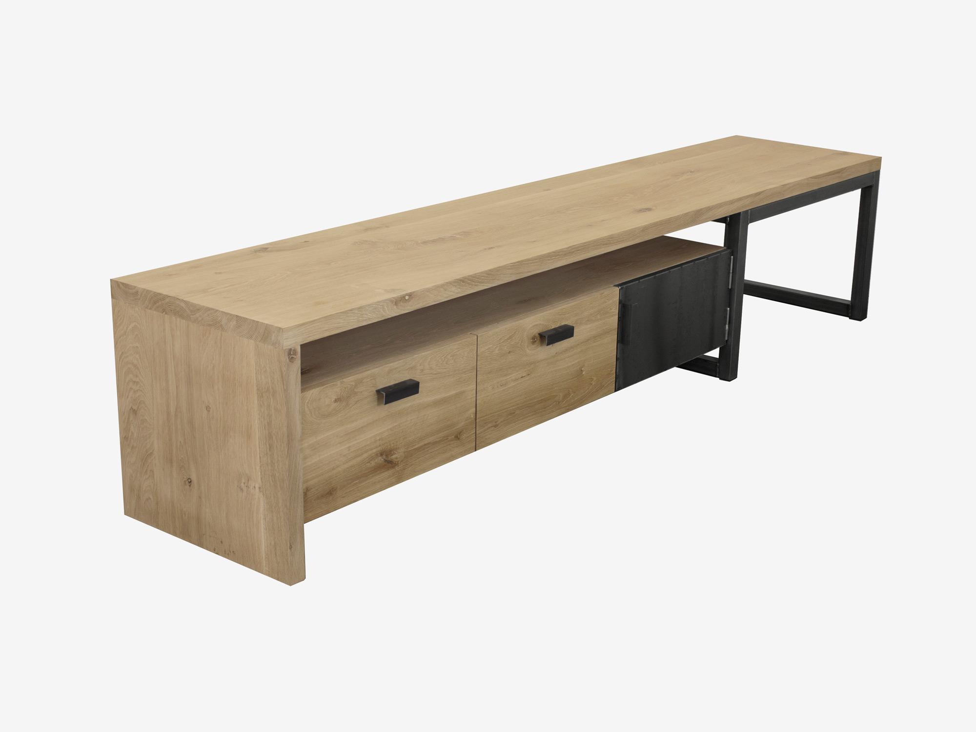 Tv meubel kaspar eikenhout fØrn maatwerk meubelen