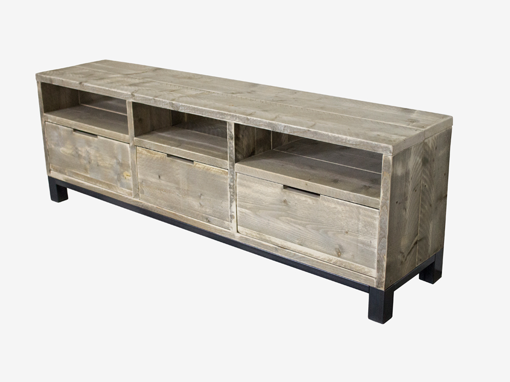Tv Kast Steigerhout : Industrieel tv meubel jill industriële meubels op maat