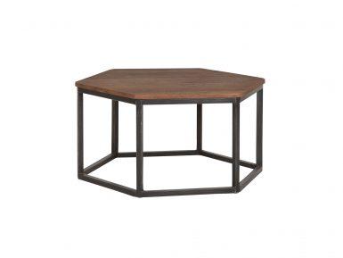 Teak salontafel zeshoek fenduy medium 70cmx61cm