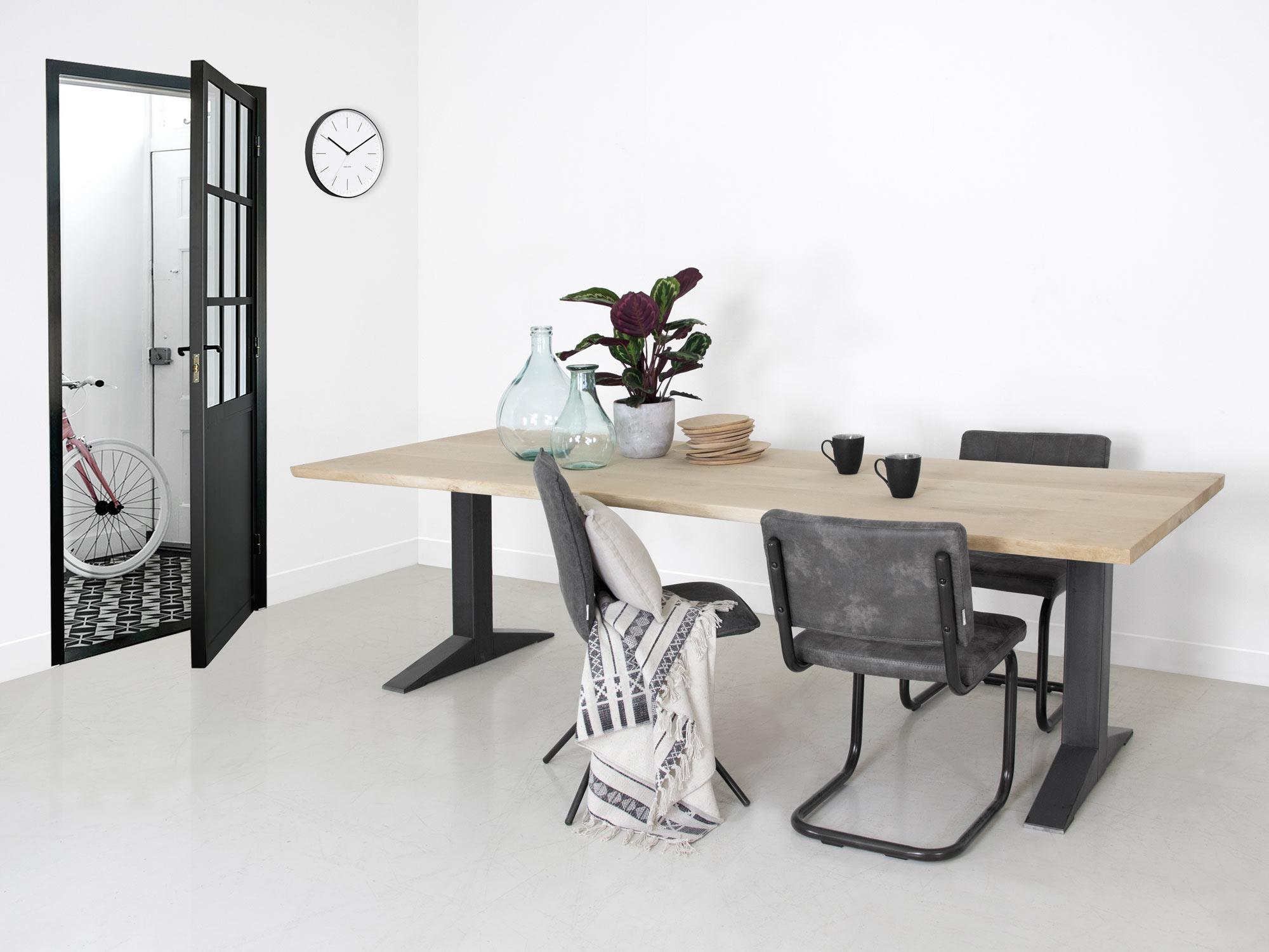 Boomstam eettafel tygo op maat gemaakt f rn meubelen for Eettafel op maat laten maken