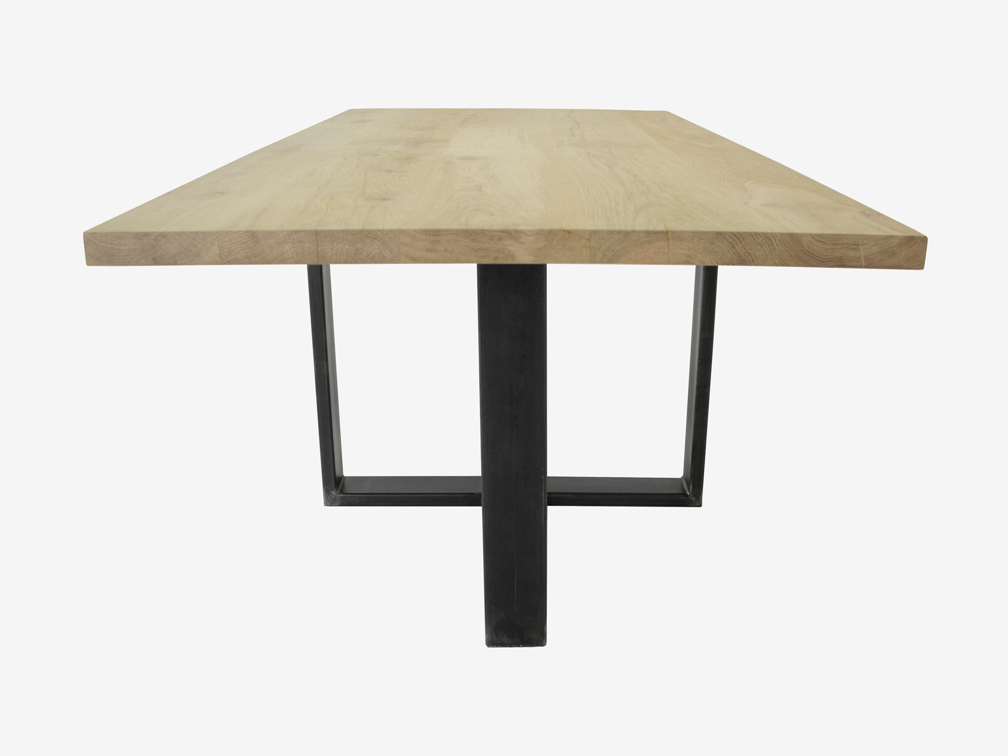 Eettafel eikenhout spinpoot op maat gemaakt f rn meubelen for Eettafel op maat laten maken