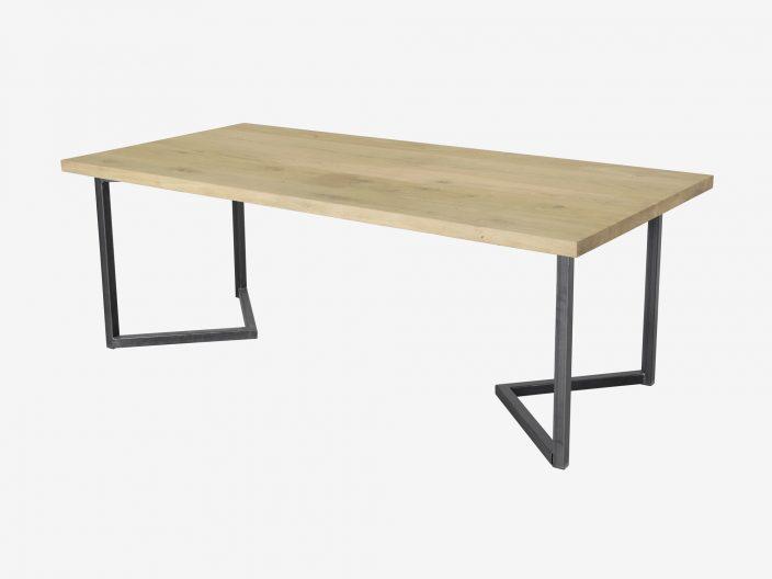 Tafel Mylo met industriele tafelpoot
