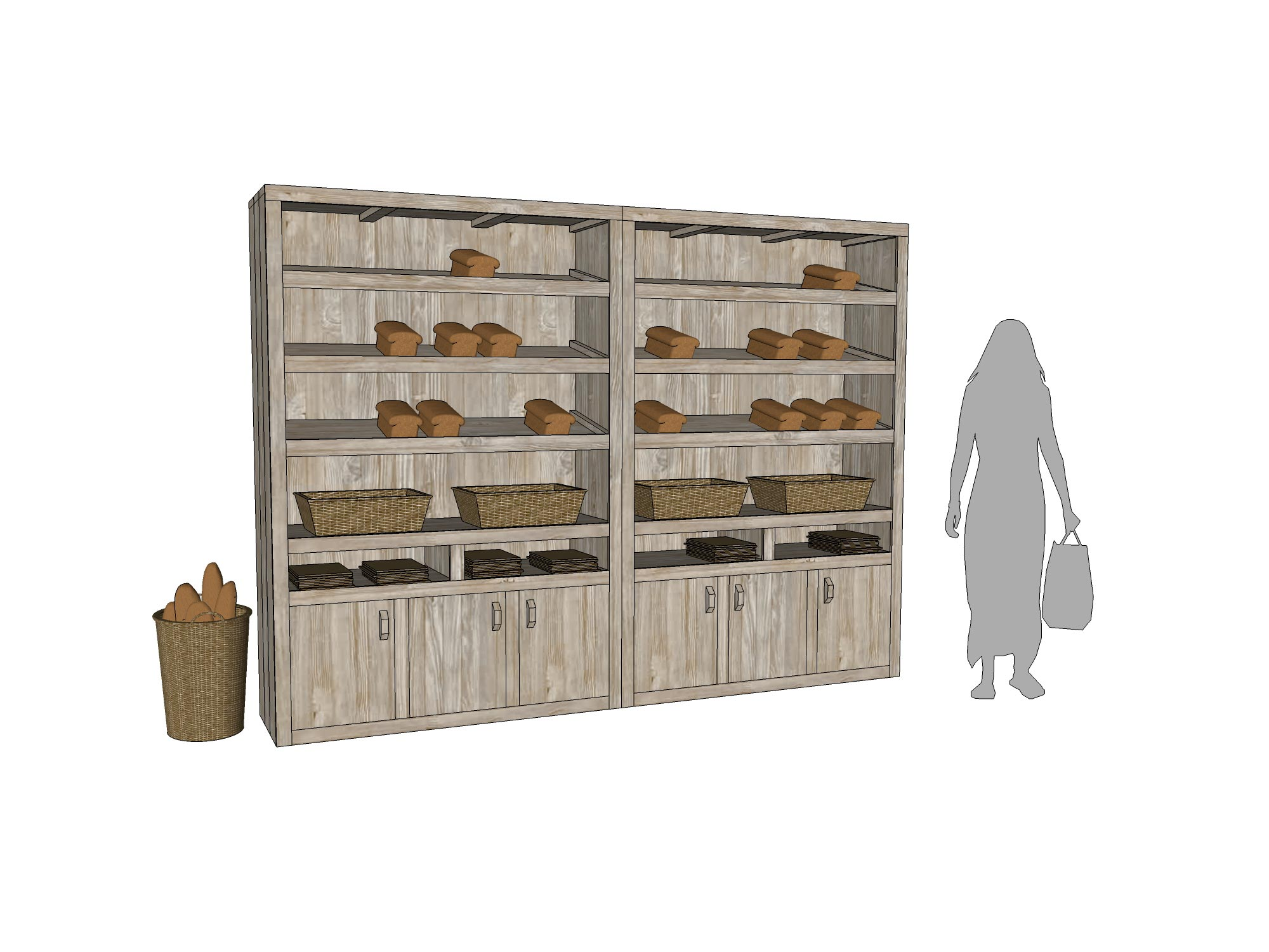 Broodkast Bakkerij winkelinrichting