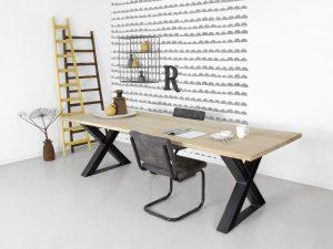 Eettafel op maat laten maken f rn maatwerk tafels for Stalen onderstel tafel laten maken