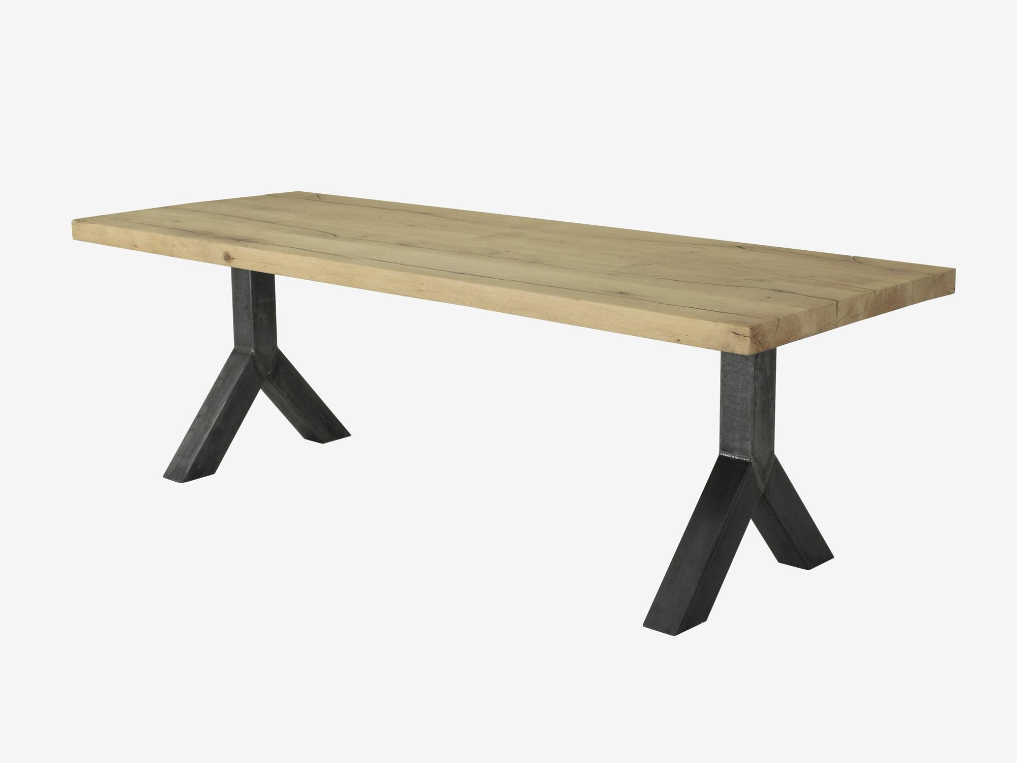 Eettafel yannieck eikenhout robuust fØrn maatwerk meubelen
