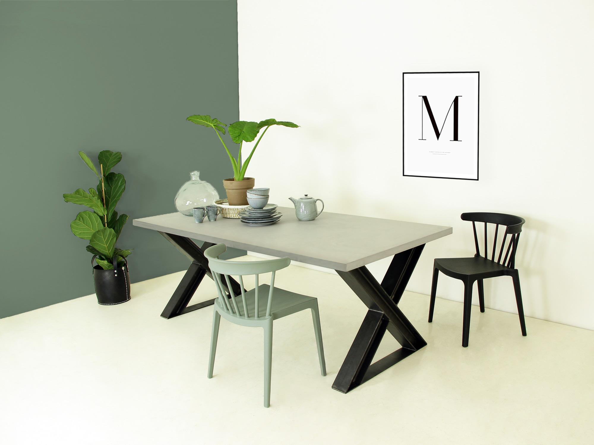 Betonlook eettafel xenno op maat f rn betonlook meubelen for Tafel op maat