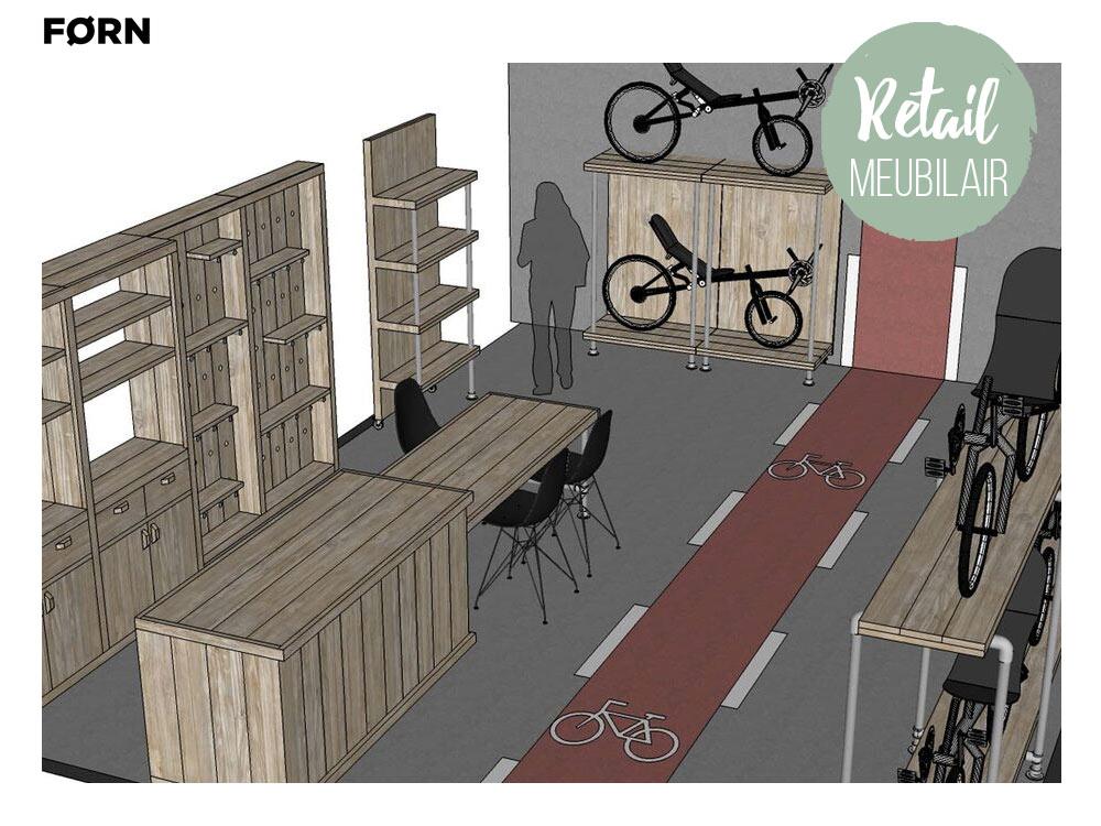 Retail ontwerp en meubelen