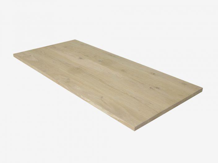 Eiken tafelblad op maat gemaakt