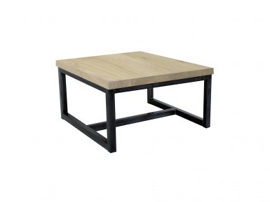 Robuuste salontafel op maat gemaakt eikenhout Silia