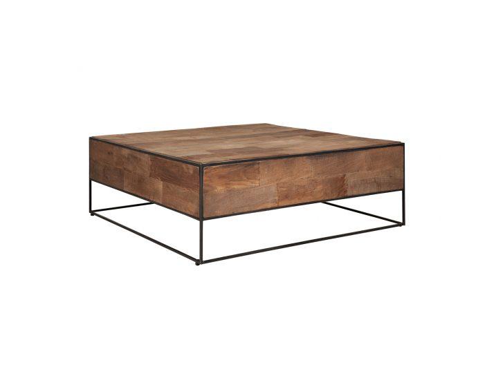 teak salontafel urban vierkant 35x100x100cm