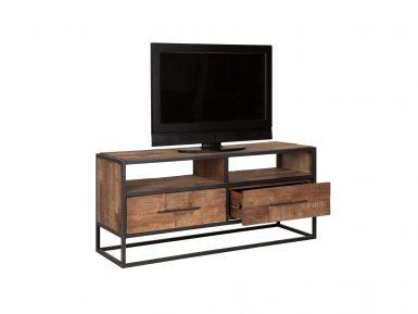 teakhouten TV-meubel URBAN MET 2 laden 55X125X40CM