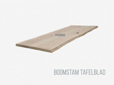 Boomstam tafelblad eikenhout op maat gemaakt.