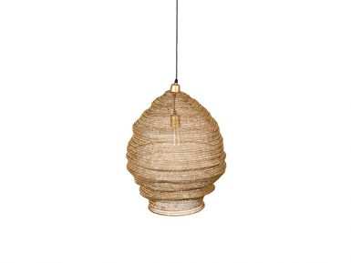 Lena hanglamp zuiver lamp sfeer messing goud