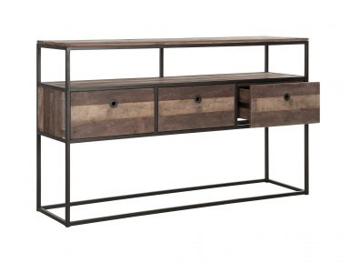 recycled teak dressoir met laden dbodhi